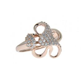 Ροζ Επιχρυσωμένο Δαχτυλίδι Λουλούδι