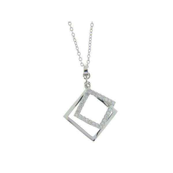 Minimal Επιπλατινωμένο Μοτίφ με Τετράγωνα