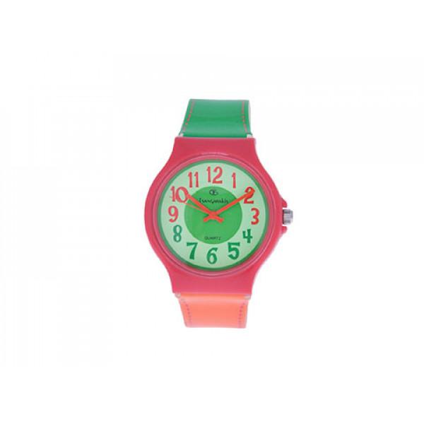 Ρολόι Sunny Collection Πορτοκαλί/Πράσινο