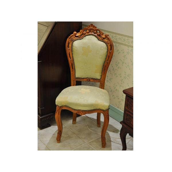 Καρέκλα Οξυάς Χειροποίητη με Καινούργια Ταπετσαρία
