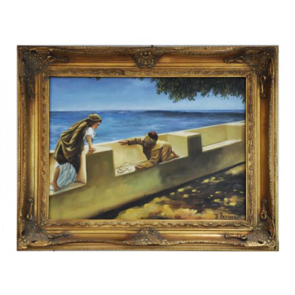 """Πίνακας Ελαιογραφία σε Καμβά """"Παιδάκια που Παίζουν"""""""