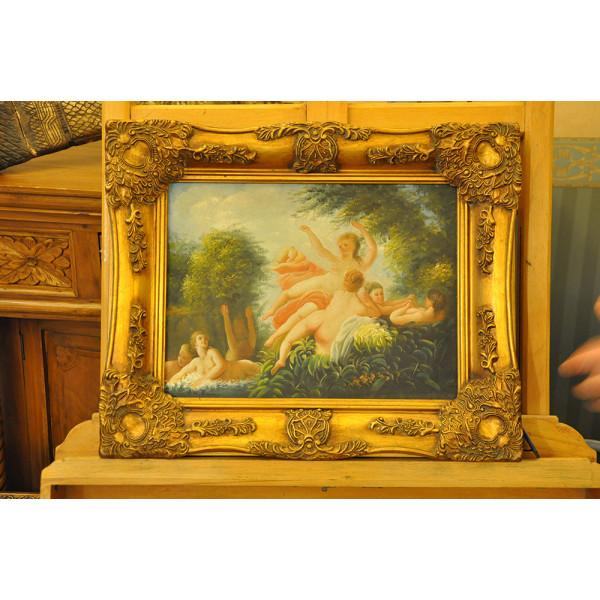 """Πίνακας """"Τα τυχερά της κούνιας"""" του A. Wilkinson"""""""