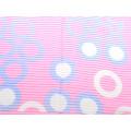 Φουλάρι Φούξια με Άσπρους Μωβ Κύκλους