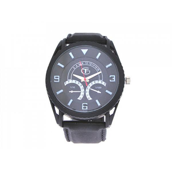 Μαύρο Ρολόι Stainless Steel
