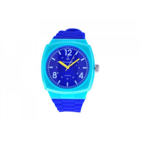 Stainless Steel Ρολόι με Μπλε Λουράκι