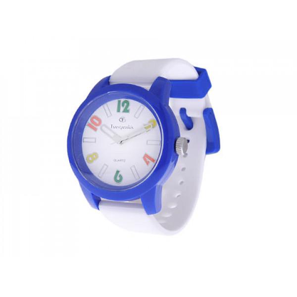 Ρολόι GT Παιδικό με Άσπρο Λουράκι και Μπλε Κάσα