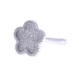 """Επιπλατινωμένο Δαχτυλίδι """"Λουλούδι"""""""