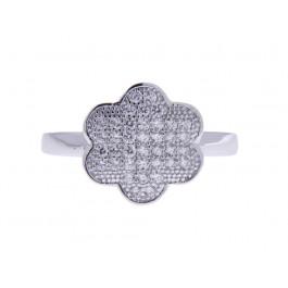 Ασημένιο Δαχτυλίδι Λουλούδι