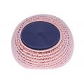 Ροζ Επιχρυσωμένο Μπομπέ Δαχτυλίδι με Μπλε Swarovski
