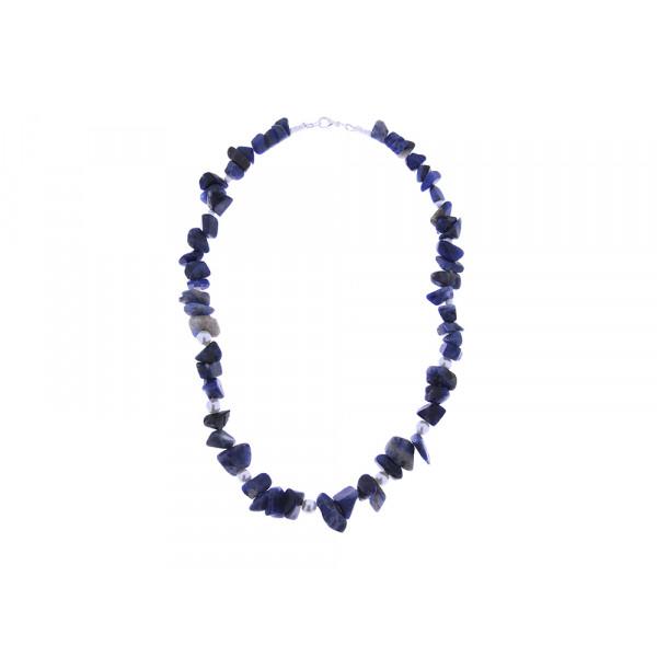 """Κολιέ με Lapis Lazuli και Πέρλες από τη Συλλογή """"Be Mine"""" by Marilou"""