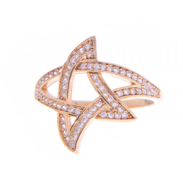 """Επιχρυσωμένο Δαχτυλίδι Αστέρι """"NIALAYA"""""""