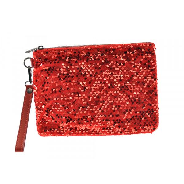 Τσάντα Φάκελος με Κόκκινη Παγέτα