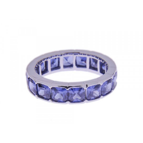 Ασημένιο Δαχτυλίδι Σειρέ με Μπλε CZ