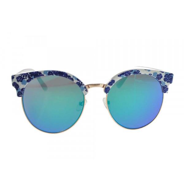 Μπλε Φλοράλ Γυαλιά Ηλίου