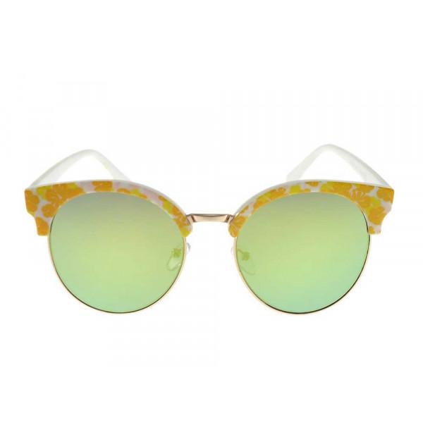 Γυαλιά ηλίου κίτρινα φλοράλ GT Diamond Clear