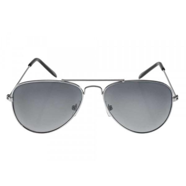Μεταλλικά Γυαλιά Ηλίου Aviators με Γκρι Φακό