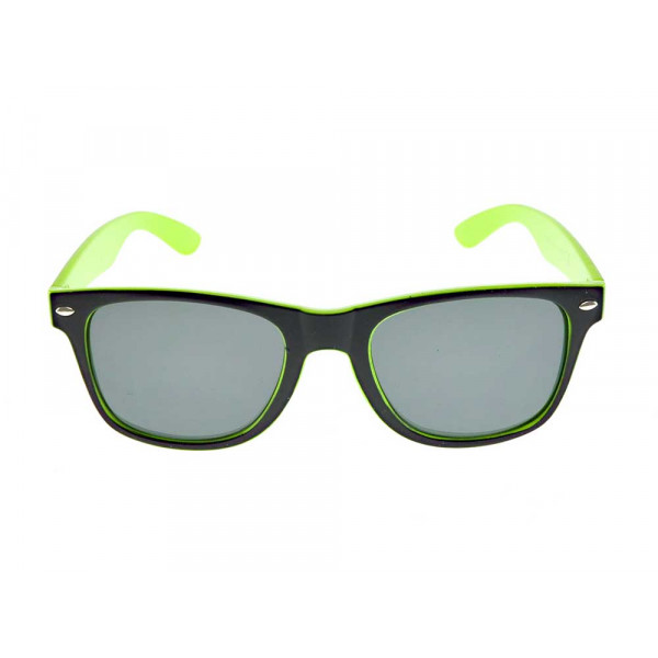 Κοκκάλινα Γυαλιά Ηλίου με Lime/Μαύρο Σκελετό