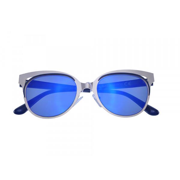 Γυαλιά Ηλίου με Σύμμεικτο Σκελετό και Μπλε Φακούς