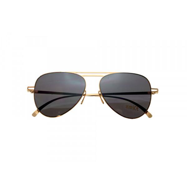 Γυαλιά Ηλίου Πιλότου με Χρυσαφί Σκελετό και Μαύρους Φακούς