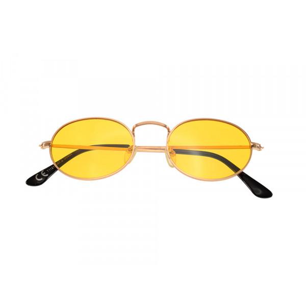 Οβάλ Μεταλλικά Γυαλιά Ηλίου Κίτρινα