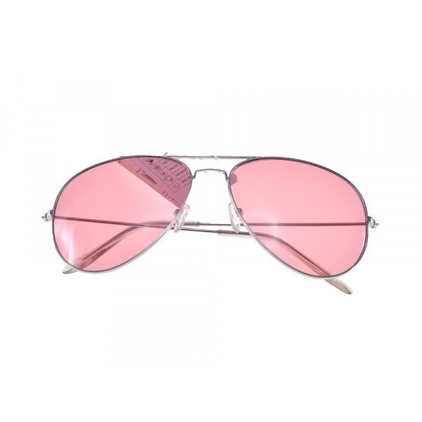 Γυαλιά Ηλίου Aviators με Ροζ Φακούς