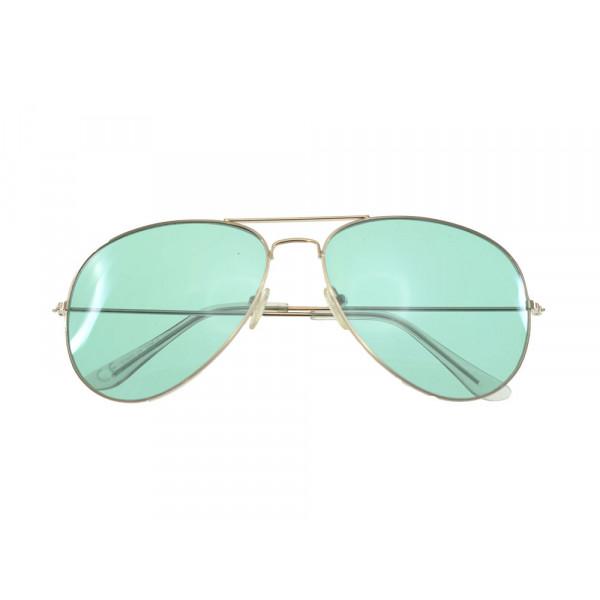 Unisex Γυαλιά Ηλίου Πιλότου με Μεγάλους Πράσινους Φακούς