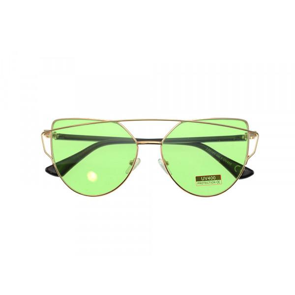 Γυαλιά Ηλίου με Πράσινους Φακούς και Σύμμεικτο Σκελετό