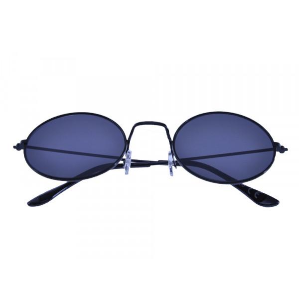 Μεταλλικά Γυαλιά Ηλίου Μαύρα με Στρογγυλούς Φακούς