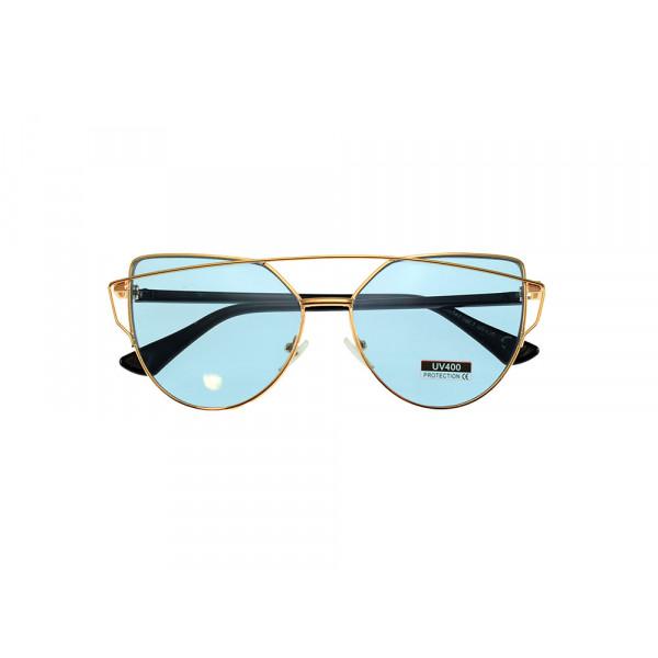 Γυαλιά Ηλίου με Γαλάζιους Φακούς και Σύμμεικτο Σκελετό
