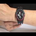 Ρολόι Bistec με κάσα από ατσάλι και μαύρο λουράκι σιλικόνης