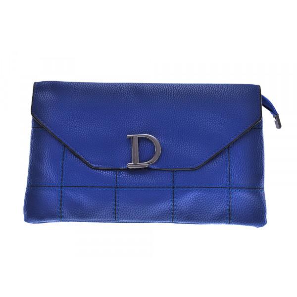 Τσάντα Φάκελος από Μπλε Eco Leather