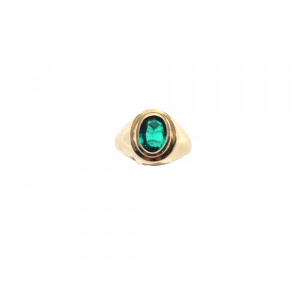 Δαχτυλίδι με Σμαράγδι από Χρυσό Κ18