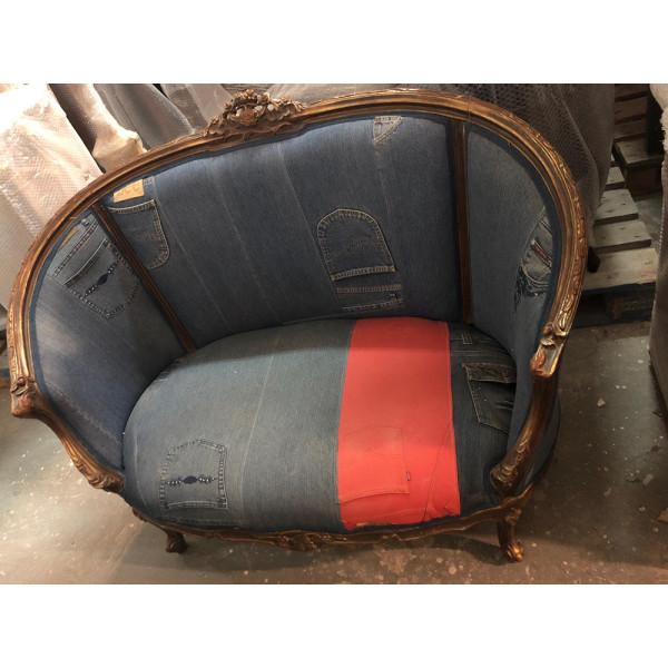 Καναπές Γαλλικού Στυλ με Jeans