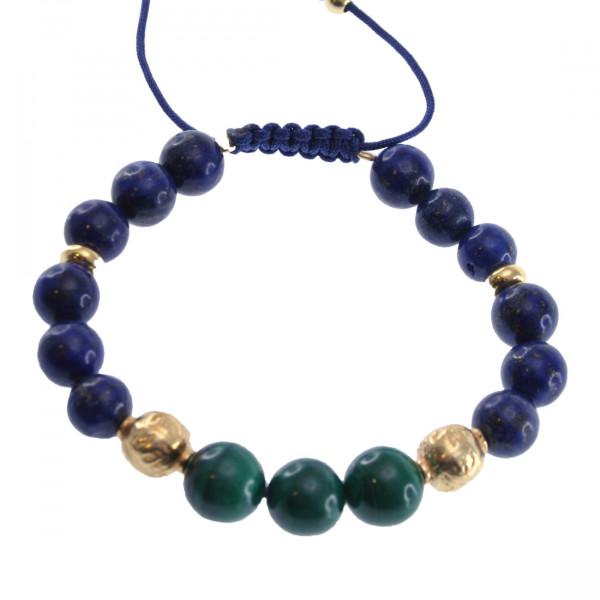 Βραχιόλι Shamballa με Lapis Lazuli και Μαλαχίτη