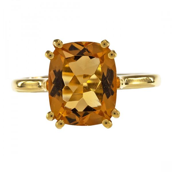K18 Χρυσό Cocktail Δαχτυλίδι με Citrine