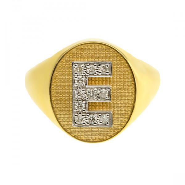 Δαχτυλίδι Σεβαλιέ Χρυσό με Μονόγραμμα από Μπριγιάν