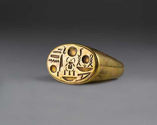 Signet Ring with Tutankhamun's Throne Name photo from the MET Museum