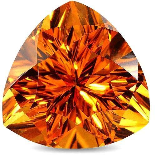 natural citrine gemstone